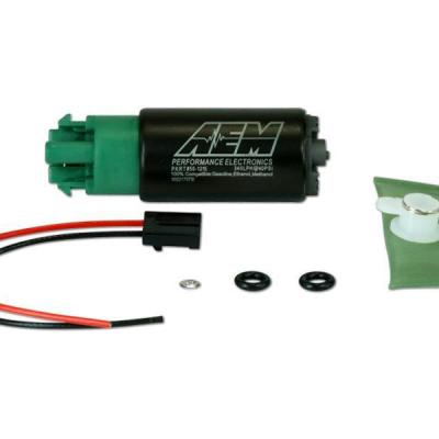 Aem E85 High Flow Tank Fuel Pump 340lph 65mm Offset Inlet 50-1215